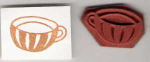 Teacup Unmounted Rubber Stamp
