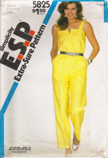 Vintage Sewing Pattern Misses' Jumpsuit Size 12-16 Simplicity 5825 UNCUT