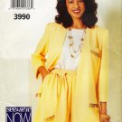 Misses' Jacket Shorts Top Sewing Pattern Size 6-10 Butterick 3990 UNCUT