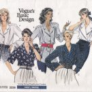 Misses' Blouse Sewing Pattern Size 12-16 Vogue 2226 UNCUT