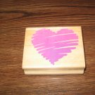 Sketched Heart Wood Mounted Rubber Stamp by Posh Impressions