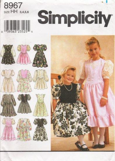 Child's & Girls' Dress Sewing Pattern Size 3-6 Simplicity 8967 UNCUT
