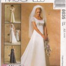 Misses' Bridal Gowns & Bridesmaids' Dresses Sewing Pattern Size 4-8 McCall's 8635 UNCUT