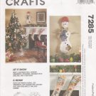 Christmas Ornaments Stockings Tree Skirt Sewing Pattern McCall's 7285 UNCUT