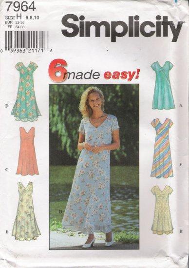 Misses' Dress Sewing Pattern Size 6-10 Simplicity 7964 UNCUT