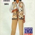 Misses' Vest & Pants Sewing Pattern Size 18-22 Butterick See & Sew 3891 UNCUT