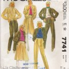 Misses' Jacket Culottes Pants Sewing Pattern Size 8 McCall's 7741 UNCUT