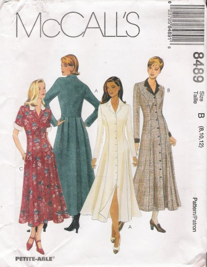 Misses' Dress Sewing Pattern Size 8-12 McCall's 8489 UNCUT