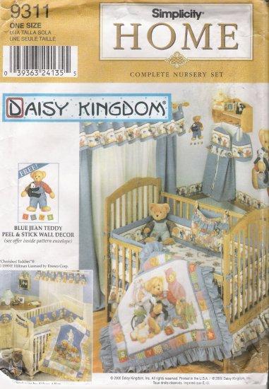 Daisy Kingdom Nursery Sewing Pattern Simplicity 9311 UNCUT