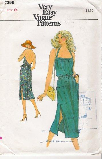Vintage Sewing Pattern Misses' Dress Size 8 Vogue 7356 UNCUT