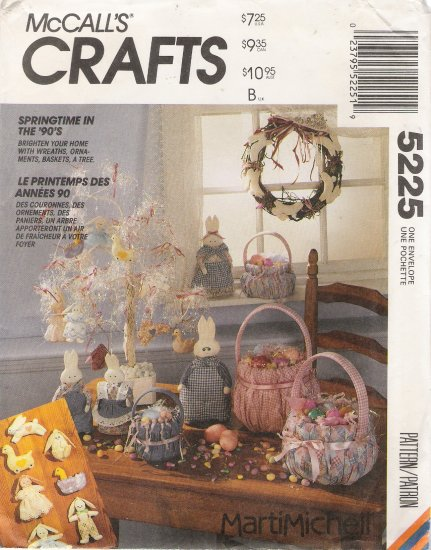 Easter Decorations Sewing Pattern McCalls 5225 UNCUT