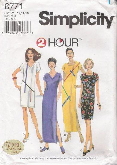 Misses' Dress Sewing Pattern Size 12-16 Simplicity 8771 UNCUT