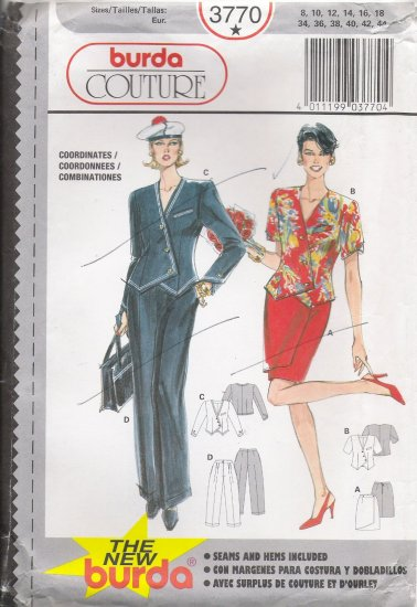 Misses' Coordinates Sewing Pattern Size 8-18 Burda 3770 UNCUT