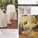 Patio Furniture Seat Covers & Pads Sewing Pattern Vogue 1156 UNCUT