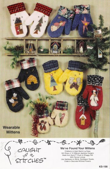 We've Found Your Mittens Wearable Mittens Sewing Pattern by Caught Up In Stitches UNCUT
