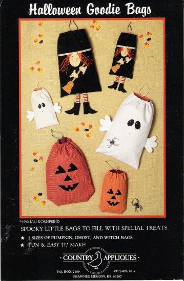 Halloween Goodie Bags Sewing Pattern by Jan Kornfeind UNCUT