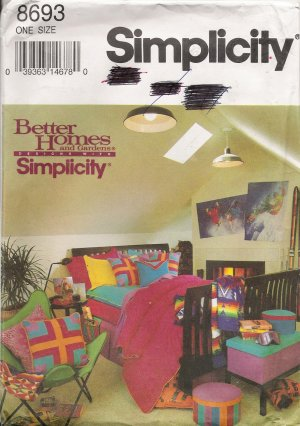 Bedroom Basics Sewing Pattern Simplicity 8693 UNCUT