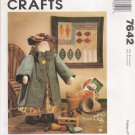 Garden Girl Doll With Clothes, Quilt & Vegetables Sewing Pattern McCalls 7642 UNCUT