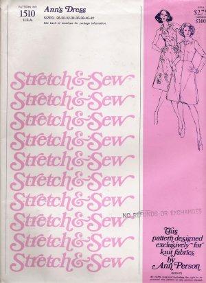 Vintage Sewing Pattern Ann's Dress Sizes 28-42 Stretch & Sew 1510 UNCUT