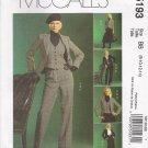 Misses' Jacket Vest Skirt Pants Sewing Pattern Size 8-14 McCall's 5193 UNCUT