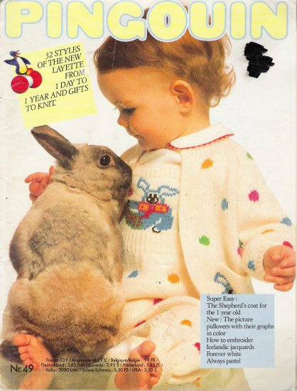 Pingouin #49 Baby Layette & Stuffed Toy Knitting Pattern Book
