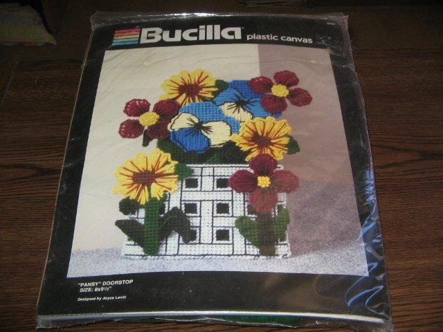 Pansy Doorstop Plastic Canvas Kit by Bucilla