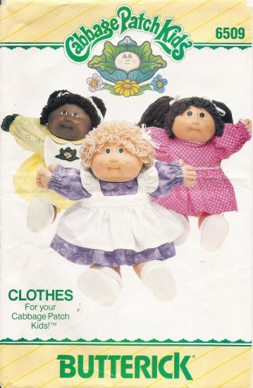 Cabbage Patch Kids Doll Clothes Sewing Pattern Butterick 6509 UNCUT