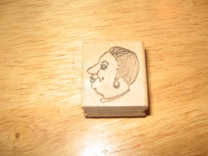 Woman's Head Wood Mounted Rubber Stamp by Impressions In Inc