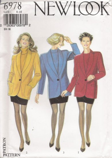 Misses' Skirt & Blazer Jacket Sewing Pattern Size 8-18 Simplicity New Look 6978 UNCUT