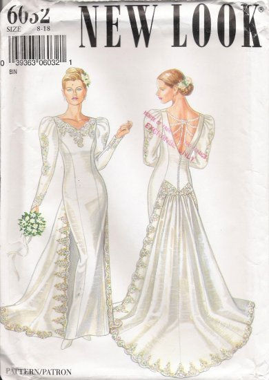 Misses' Wedding Dress Sewing Pattern Size 8-18 Simplicity New Look 6032 UNCUT