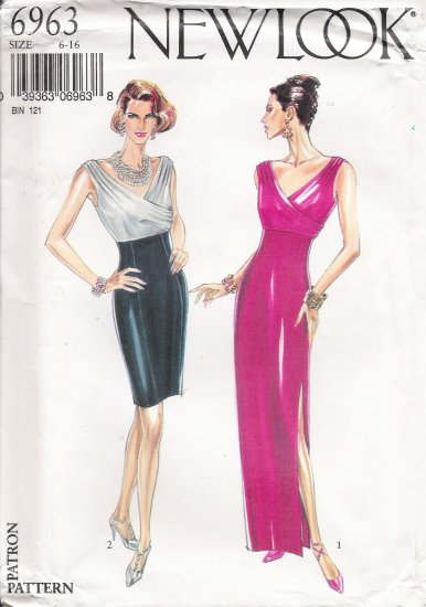 Misses' Evening Dress Sewing Pattern Size 6-16 Simplicity New Look 6963 UNCUT