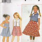 Child's Dress & Vest Sewing Pattern Size 5-8 Simplicity 7050 UNCUT