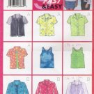 Misses' Shirt & Tank Top Sewing Pattern Size 12-16 Butterick 5373 UNCUT