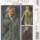 Misses' Jacket Sewing Pattern Size 10-16 McCall's 4927 UNCUT