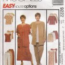 Women's Jacket Dress Top Pants Shorts Sewing Pattern Size 26W-30W McCall's 9222 UNCUT