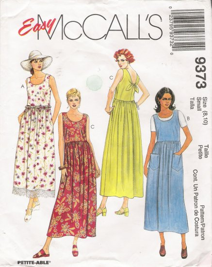 Misses' Dress Sewing Pattern Size 8-10 McCalls 9373 UNCUT