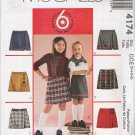 Girls' Skorts Sewing Pattern Size 3-6 McCall's 4174 UNCUT
