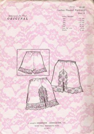 Vintage Sewing Pattern Ladies Pleated Panti-Slip Size 6 Dolores Of St. Paul 7117 UNCUT