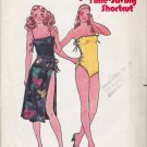 Vintage Sewing Pattern Misses' Swimsuit & Skirt Size 12 Butterick 6574 UNCUT