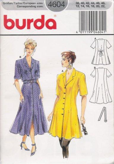 Misses' Dress Sewing Pattern Size 12-22 Burda 4604 UNCUT