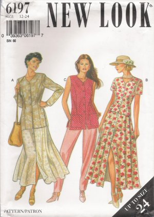 Misses' Jacket Skirt Trousers Sewing Pattern Size 12-24 Simplicity New Look 6197 UNCUT