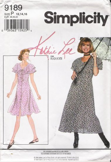 Misses' Dress Sewing Pattern Size 12-16 Simplicity 9189 UNCUT
