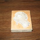 Angel Wood Mounted Rubber Stamp
