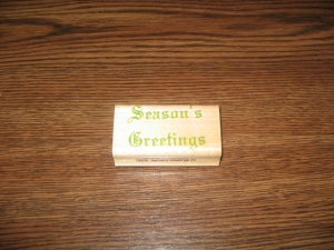 Season's Greetings Wood Mounted Rubber Stamp by Impressive Stamps