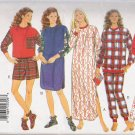 Misses' Nightshirt Pajamas Booties Sewing Pattern Size XS-M Butterick 3704 UNCUT