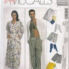 Misses' & Men's Unisex Robe Pants Shorts Booties Sewing Pattern Size L McCall's 9680 UNCUT
