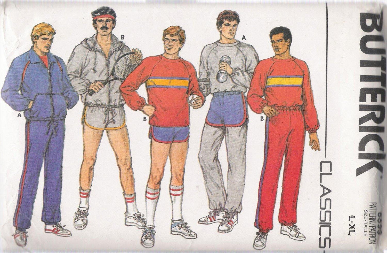 Vintage Sewing Pattern Men's Jacket Top Shorts Pants Size L-XL Butterick 6893 UNCUT