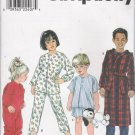 Toddlers' & Child's Sleepwear Sewing Pattern Size 3-6 Simplicity 8493 UNCUT