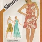 Vintage Sewing Pattern Misses' Culottes & Halter Top Size 10-14 Simplicity 5128 UNCUT