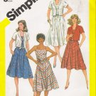 Vintage Sewing Pattern Misses' Sundress & Jacket Size 10 Simplicity 5845 UNCUT